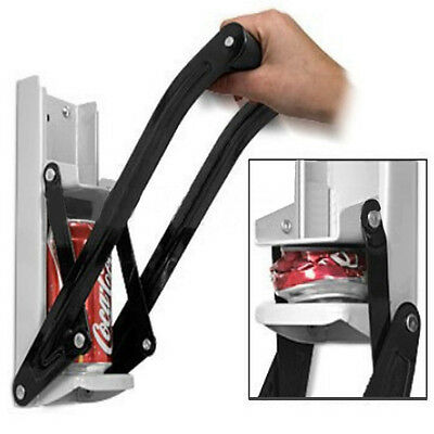 Can Crusher | Large 16oz 500ML Soda Beer Bottle Opener Wall Mounted Recycling