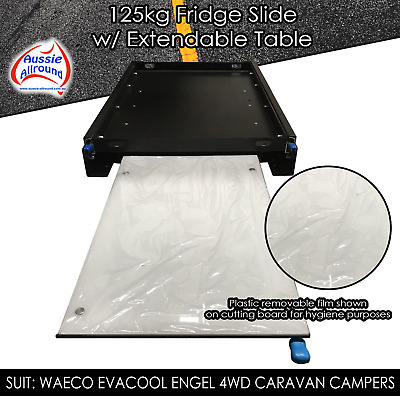 NEW Fridge Slide With Extendable Table / Cutting Board 4wd Caravan Camping