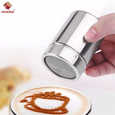 1Pcs S/L Flour Cocoa Chocolate Baking Powder Sugar Shaker Sprinkler Dredger