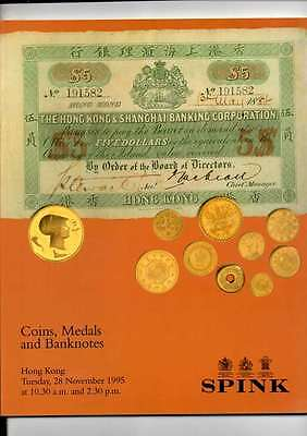 Spink Auction Catalogue Nov 1995 Honk Kong Coins Medals & Banknotes