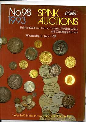 Spink Auction Catalogue June 93 British Gold & Silver Tokens Foreign Coins Etc