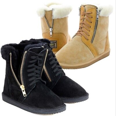 Originals Ugg Australia Sheepskin Zip Lace Short Boots 5 6 7 8 9 10 Men Women
