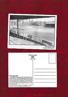 Postcard Dulwich Hamlet football ground by Newlands Photographic
