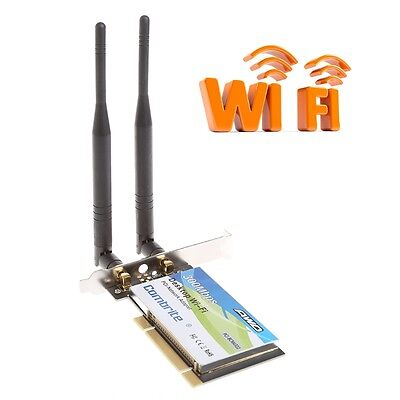 300Mbps BCM4322 2.4G Wireless Wifi PCI-E Card Desktop Adapter With 6dBi Antenna