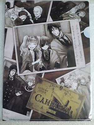 Black Butler Book of the Atlantic Clear File Ciel Sebastian Elizabeth Anime F/S