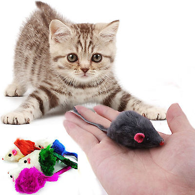 10pcs Soft Fleece False Mouse Cat Toys Funny Playing Toys For Cats Kitten Best