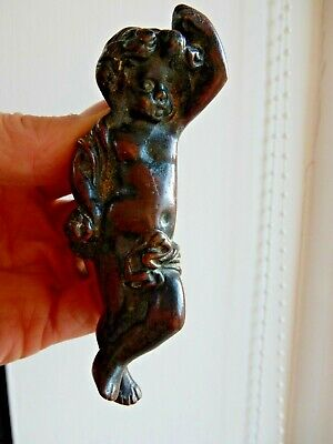 Antique  Reclaimed Brass Putti Cherub   (Bronze Effect) Front Door Knocker Brass