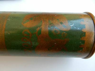 Manuscript Certificate Diploma Tube  About 1880 Attractive Painted Original Tin