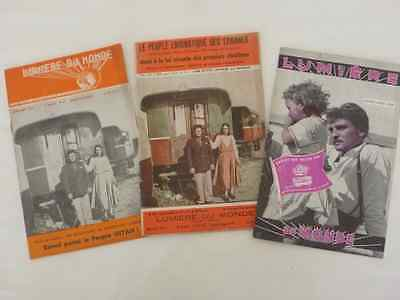 TRAVELLER  3  pamphlets as French Language 1950s Gypsy Romany Roma,  Romani