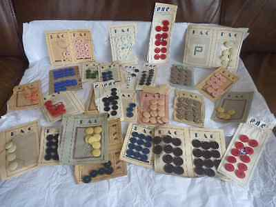 ART DECO BUTTONS a hoard lots and lots for projects & making !