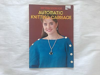 Pattern Book For Automatic Knitting Carriage By Brother.