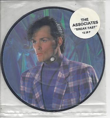 """THE ASSOCIATES Breakfast - Limited Edition 7"""" Picture Disc (1984) EX Condition!!"""