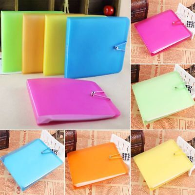 12 Sleeves CD DVD Blu Ray Disc Carry Wallet Sweet Case Holder Storage Cover Bag