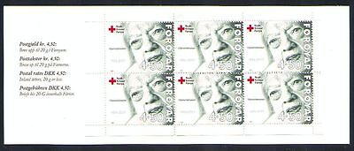 Faroe Islands 2001 Booklet SB24 Red Cross, Woman, pane of 6 SG 404 MNH / UNM