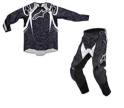 New 32 M Black Alpinestars Techstar Jersey Pants Kit Motocross Enduro CRF Sale