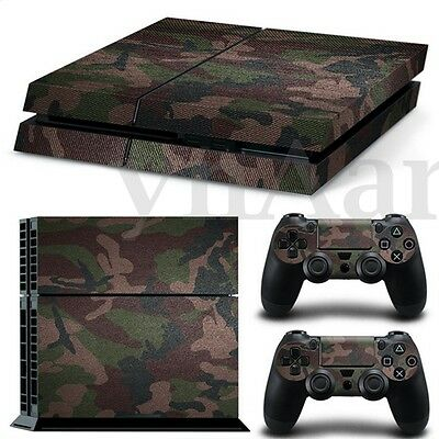 For PS4 Playstation 4 Camouflage Console Controllers Decal Cover Skin Stickers