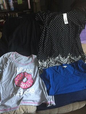 Nice Lady's Womans Clothes Bundle - 4 Tops - Size 20/22 - Inc New Long Over Top