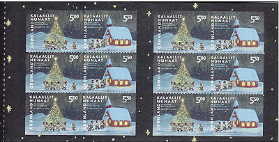 Greenland 2003 Christmas, Tree & Church 63DKK Booklet complete. UNM / MNH