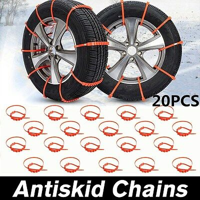 20Pcs Winter Snow Car Truck Tire Cable Chain Safety Wheel Tyre Thickened Tendon