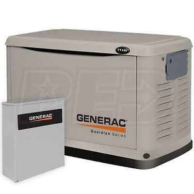 Generac 11 kW Pre-Packaged Air-Cooled Standby Generator & 200 Amp SE Switch