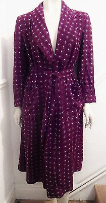 VINTAGE 40s CREPE MEN/WOMAN DECO DRESSING GOWN/ROBE/SMOKING JACKET/HERISWELL