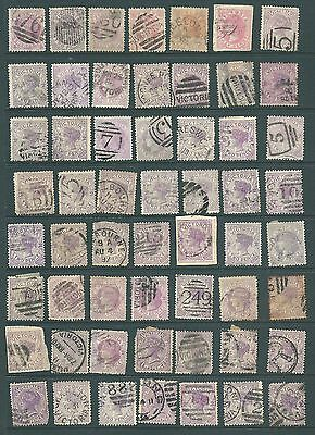 VICTORIA, Australia - Late Victorian stamps for study & postmarks (b)