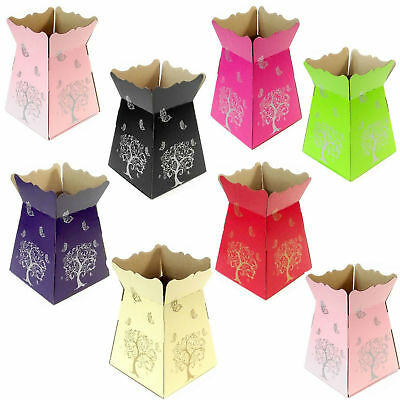 Living Vases - Tree & Butterfly - Florist Bouquet Box Flower Sweet Boxes - 7 Col