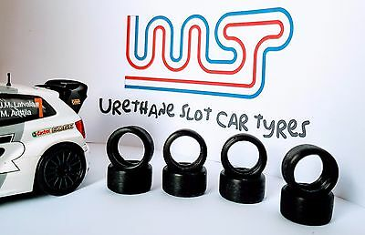 WASP - Urethane Slot Car Tyres x 8 - Scalextric Volkswagen Polo