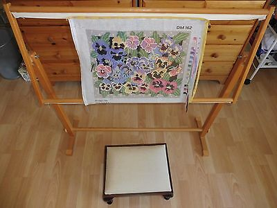 Floor Standing Tapestry Frame and Stool