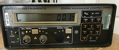 EX MOD MARCONI MODEL. 2440, 10 Hz - 20 GHz.  MICRCOWAVE  COUNTER.