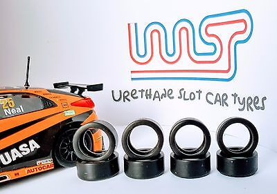 WASP - Urethane Slot Car Tyres x 8 - Scalextric Honda Civic Type-R