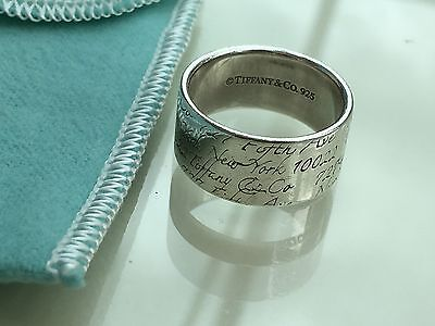 Authentic Tiffany & Co.  Sterling Silver Notes Ring