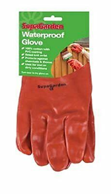SupaGarden Waterproof Gardening Gloves  PVC coating