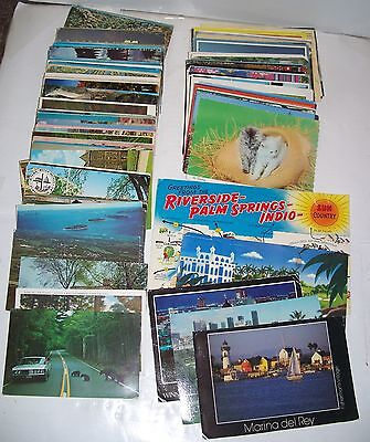 Lot (175+) Postcards with postage stamps,postmarks,US,foreign,scenery,animals,++