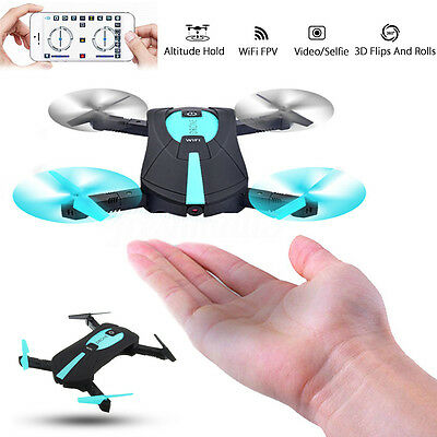 4CH Altitude Hold Foldable Selfie RC Quadcopter Drone WiFi FPV Pocket HD Camera