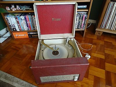 VINTAGE T.D.B MERITONE CARRY CASE RECORD PLAYER / TURNTABLE made in 1957