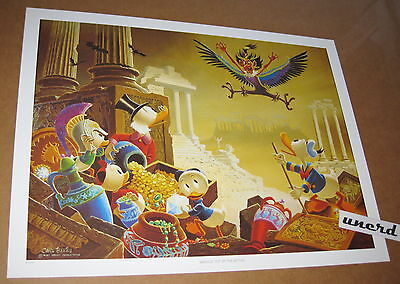 Carl Barks Kunstdruck: Menace out of the Myths - Scrooge, Donald Duck Art Print