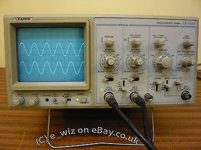 LEADER LS1020 Oscilloscope - Refurbished -Fully tested & Calibrated