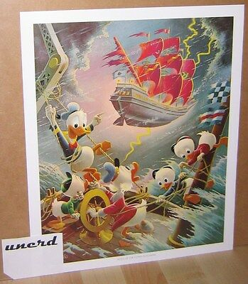 Carl Barks Kunstdruck: Afoul of the Flying Dutchman - Scrooge McDuck Art Print
