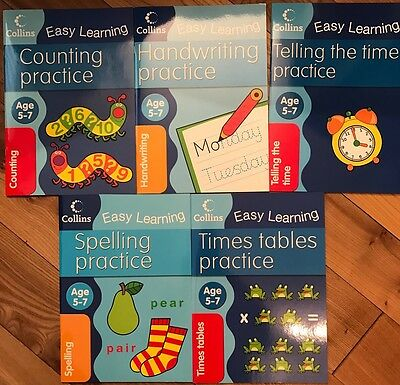 Collins Easy Learning Age 5-7 PACK: Counting Handwriting Spelling Time Tables