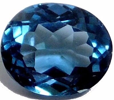 NATURAL SUPERIOR LONDON BLUE TOPAZ LOOSE GEMSTONES (9.2 x 7.6 mm) OVAL SHAPE