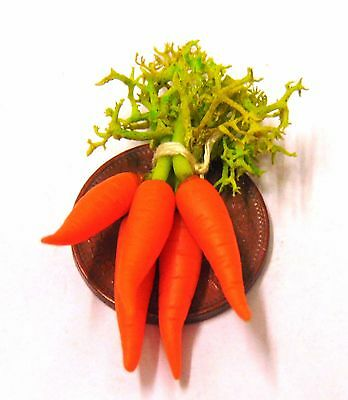 1:12 Scale Bunch Of Carrots Dolls House Miniature Vegetable Kitchen Accessory