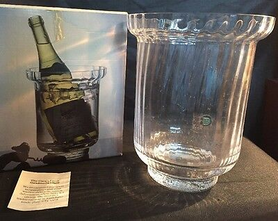 Vintage Dartington Glass Ripple Lead Crystal Wine Cooling Bucket