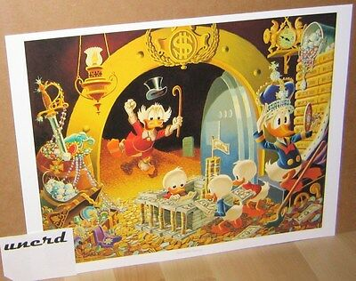 Carl Barks Kunstdruck: Hands off my Playthings - Scrooge, Money Bin Art Print