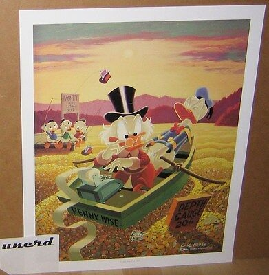 Carl Barks Kunstdruck: Only a poor old Duck - Donald, Scrooge McDuck Art Print