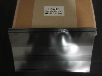 100 x HAWID STAMP APPROVAL / STOCK / SPEC CARDS - 2 STRIP DISPLAY - BLACK