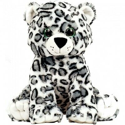 "Snow Leopard 15"" Build a Plush Teddy Bear Furry Friend Party Kit"