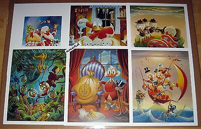 Carl Barks Kunstdruck: Set mit 6 Motiven - Sailing the Spanish Main etc.