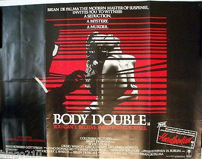 Body Double 1984 Original Quad Poster Brian De Palma  Melanie Griffith Slasher