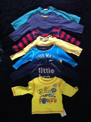 baby Boy 3-6 Month Long Sleeve T-shirts Tops Bundle Of 7 John Lewis Etc